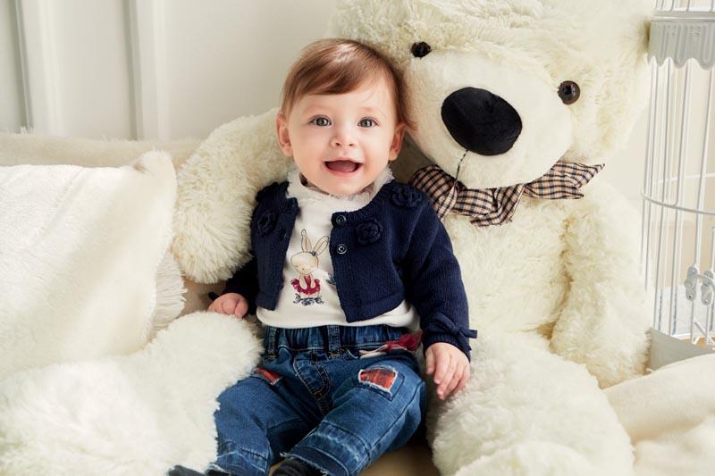 Бебешка плетена жилетка Sarabanda 31713